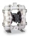 Sandpiper® PB.25 TS3K 气动双隔膜PVDF泵,聚偏氟乙烯(PVDF),4 GPM,Santoprene®隔膜