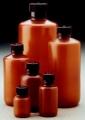 Nalgene 312084-0004 窄口包装瓶,透明琥珀色高密度聚乙烯,不透明琥珀色聚丙烯盖,125毫升容量,每箱500